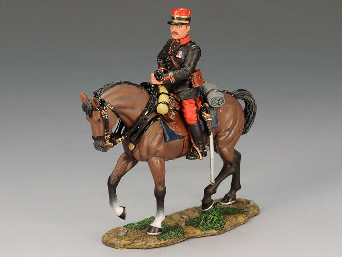 KING AND COUNTRY FW62 FW062 FRENCH MOUNTED OFFICER  - WWI 1 30