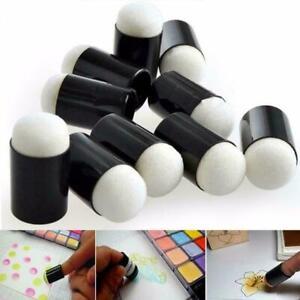 10-stk-Finger-Schwamm-Daubers-Farbe-Stempelkissen-Stamping-Pinsel-Handwerk-V3N8