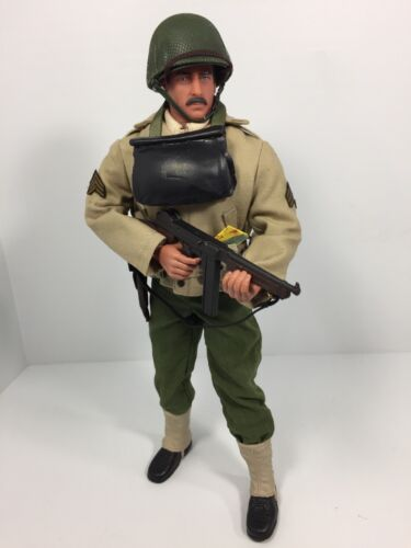 1/6 CUSTOM US RANGER BTN SGT THOMPSON SMG D DAY OMAHA WW2 DRAGON DID BBI 21st