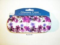 neat* floral purple GLASSES / SUNGLASSES HINGED HARD CASE ** bnwt ** same day UK