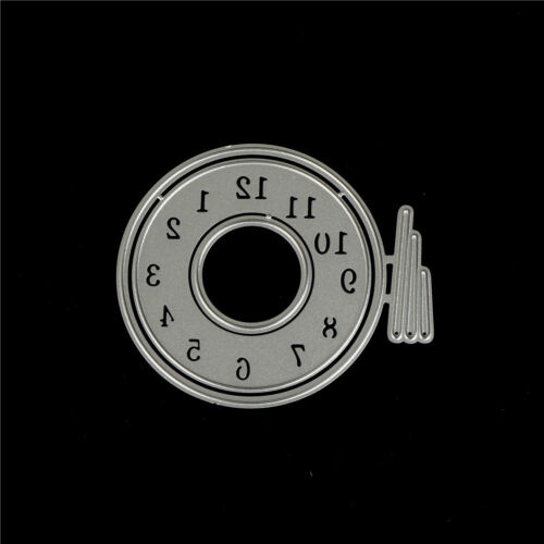Clock Shape Metal Cutting Dies Stencils for DIY Scrapbookings Album Cards Mak Fp