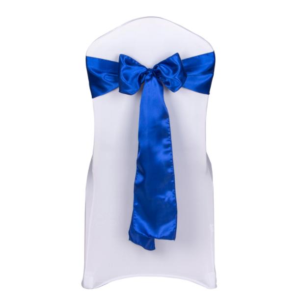 Royal Blau satin chair sashes tie chair bows ribbon wedding birthday party decor