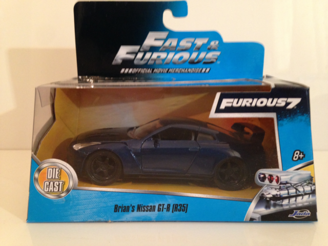 Jada 97037-1//32 2009 NISSAN GT-R Fast and Furious 7