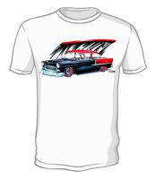 Kurbside Kustoms 1955 Chevy Belair 100% Cotton Hot Rod T-shirt Jr-6