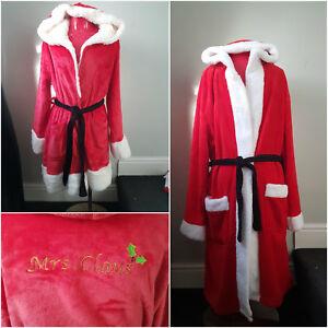 Bnwt Primark Santa Mens Or Ladies Mrs Clause Fleece Dressing Gown