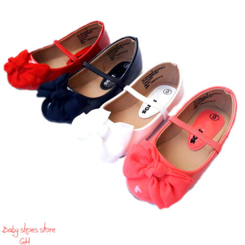 Baby infant toddler girl casual ballet flat dress shoes size 4-9