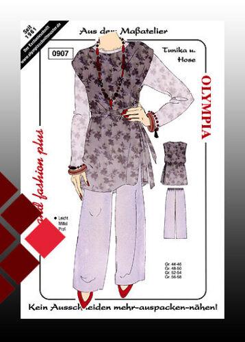 túnica pantalones tamaño 44-46 48-50 52-54 Patrones de corte moderados no cortar
