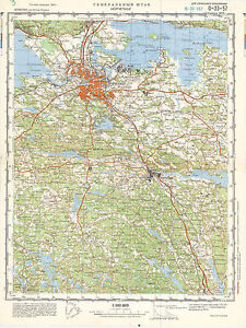 Russian Soviet Military Topographic Maps NORRKOPING Sweden 1100