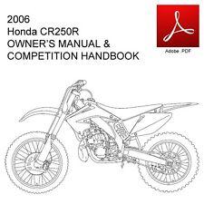 honda service manual copy version honda cr250 ebay rh ebay co uk honda cr 250 service manual honda cr250 manual 1999
