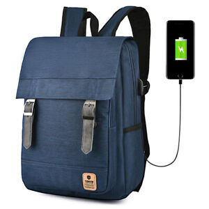 Cable Anti-Theft Backpack USB Charging Port Rucksack Laptop School Bag Travel