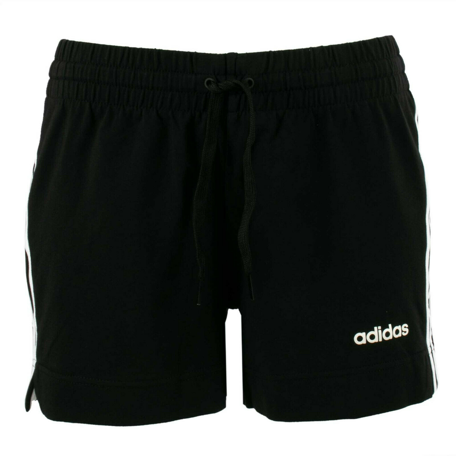 adidas Damen Jersey Shorts DP2405 Essential 3 Stripes Schwarz / S / kurze Hose