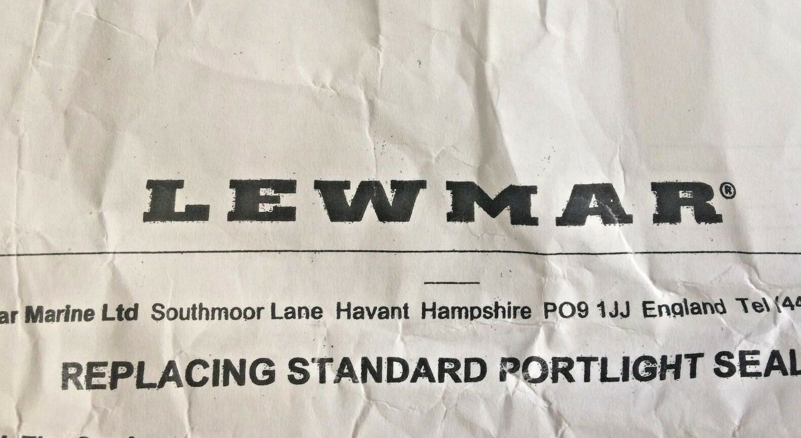 LEWMAR Old Standard Portlight   Replacment Seals   Choose size