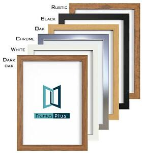 Details about  /A1 A2 A3 A4 A5 Photo Frame Picture Poster Large Square Black White Oak Chrome