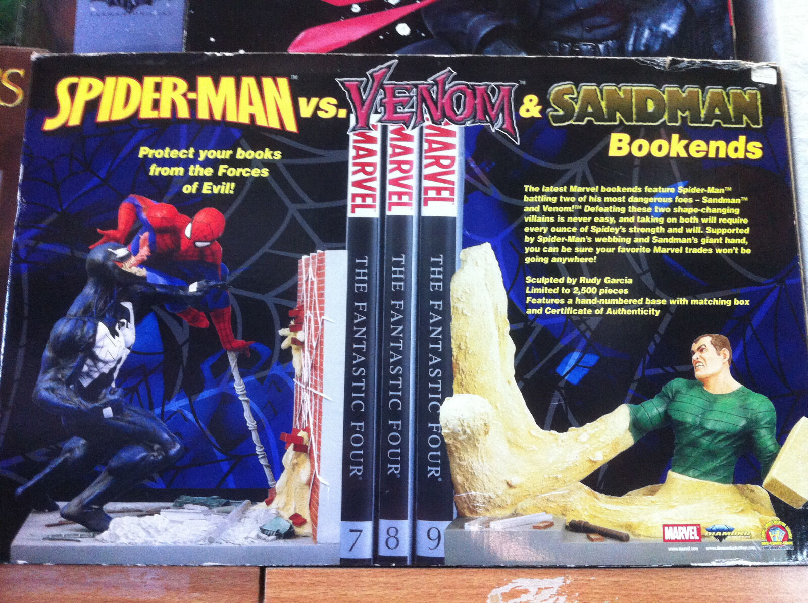 Diamond spiderman vs venom vs sandman bookend