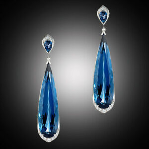 Elegant-Jewelry-925-Silver-Blue-Sapphire-Wedding-Engagement-Drop-Dangle-Earrings