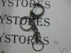 Metal Keychain Buckle Carabiner Clip Split Ring Spring Hook w/ 2 key rings