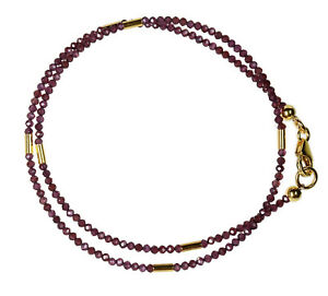 GRANAT-Wickel-Armband-Silber-vergoldet-GARNET-Bracelet-Z280