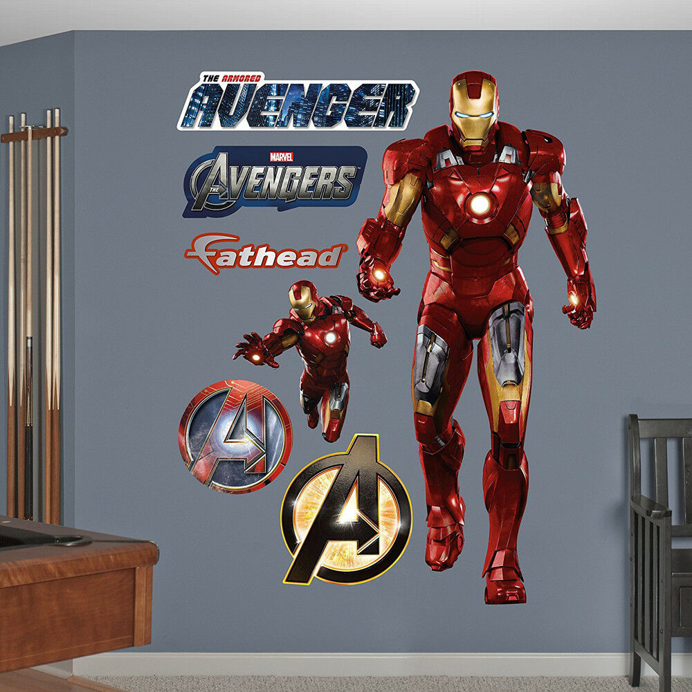 Fathead Avengers Iron Man Live Action Marvel Comics Real Big Wall Decor 96-96065