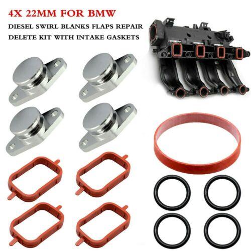 4x 22mm Diesel Swirl Flap Bungs Blanks Intake Gaskets Kit For BMW 320d 330d 520d