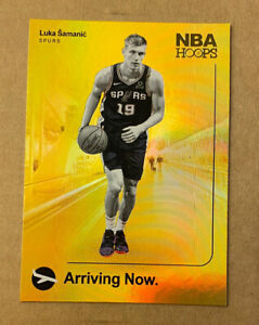 2019-20-Panini-NBA-Hoops-Luka-Samanic-Arriving-Now-19-HOLO-Parallel-Spurs