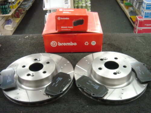 RENAULT CLIO 197 RS BRAKE DISC BREMBO CROSS DRILLED BREMBO PADS FRONT NEW
