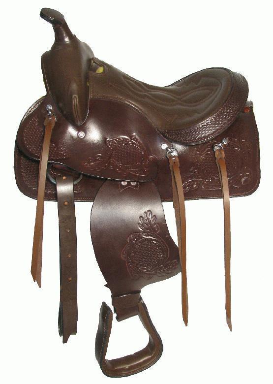 12 Marronee Leather Pony Western Show Saddle Trail Kids