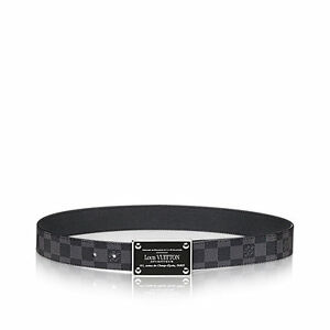bcc4ced43bd2 Image is loading Louis-Vuitton-LV-Inventeur-Damier-35MM-Reversible-Belt-