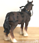 Shire-Cart-Heavy-Horse-in-harness-ornament-figurine-quality-Leonardo-gift-boxed miniatuur 6