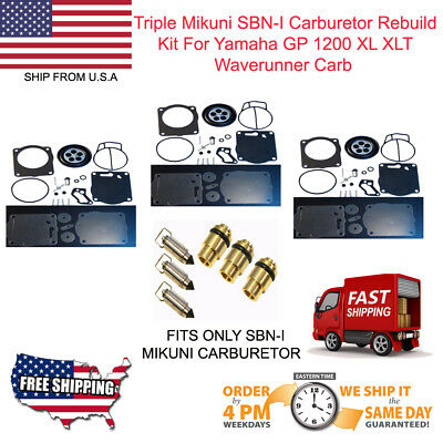 TRIPLE Mikuni SBN-I Carburetor Rebuild Kit Yamaha GP 1200 XL XLT Waverunner Carb