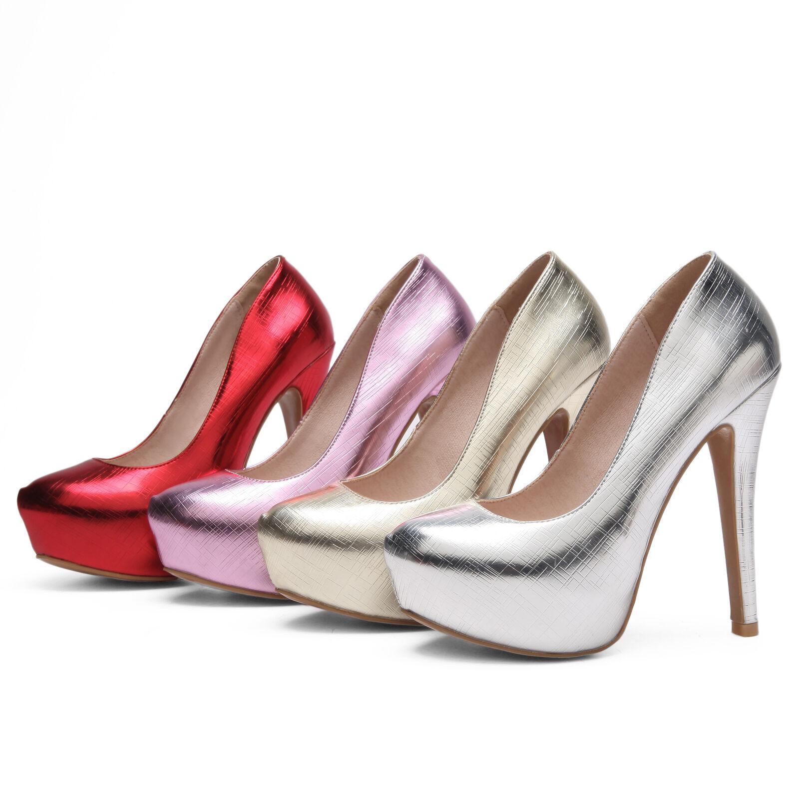 Para Mujer Zapatos Tacón Tacón Tacón Muy Alto de Fiesta Bombas de plataforma de Cuero Sintético Talla EE. UU. 3  14  con 60% de descuento