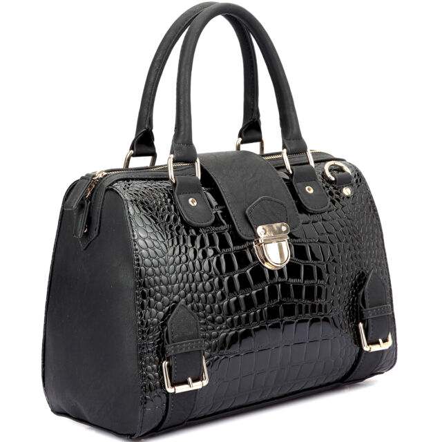 1bfd881f02f8 Women Shoulder Bags Crocodile Skin DESIGNER Satchel Handbags ...