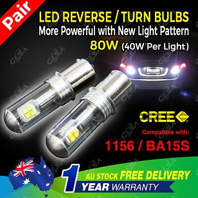 2PCS 12V 80W LED CREE BA15S 1156 P21W Car Reverse Turn Signal Backup Light bulb
