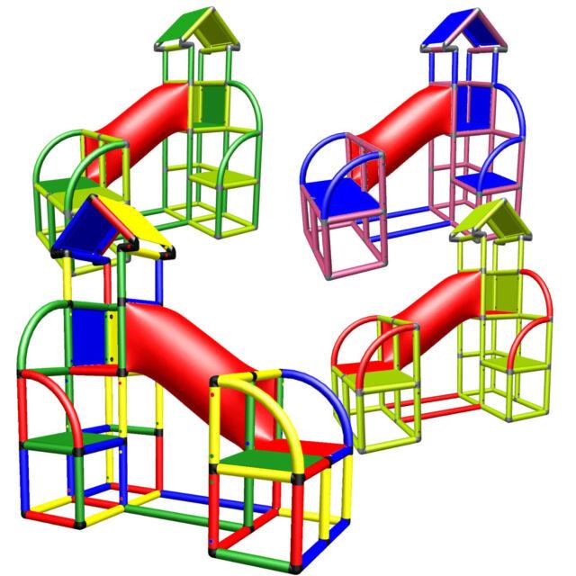 Bevorzugt Moveandstic Baukasten Bällebad Spielhaus 6005 Rutsche Drinnen NT13
