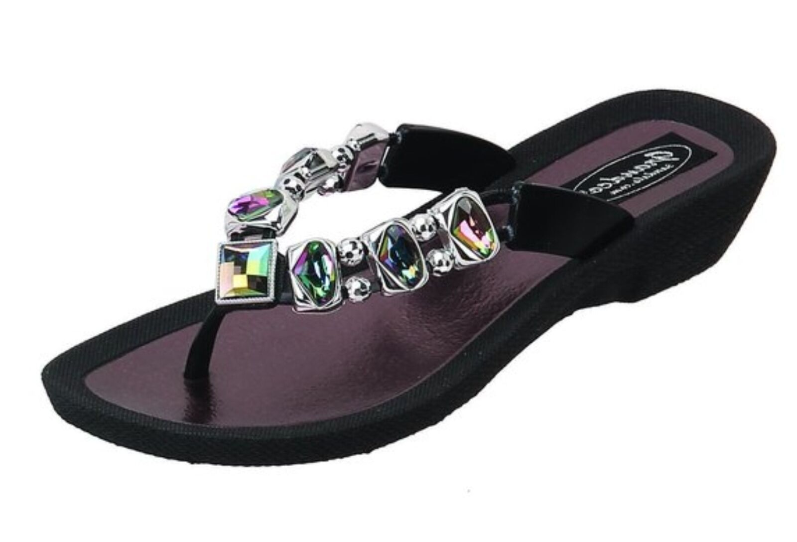 Gentleman/Lady Grandco Sandal BLACK AB size up 8 feature new Pick up size at the boutique 67b022