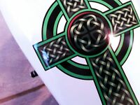 Harley Davidson Decals Celtic Cross Decals 5pc Tank & Fender Decal Set 4 Styles