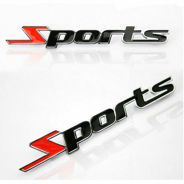 1pc Sports Word letter 3D Chrome metal Car Sticker Emblem Badge Decal Auto Decor