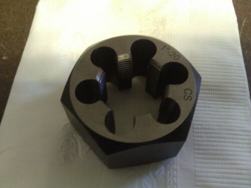 "1/""-20 CARBON STEEL HEXAGONAL RE-THREADING DIE"