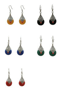 Jwellmart-Indian-Traditional-Bollywood-Colored-Stone-Tibetan-Fashion-Earrings