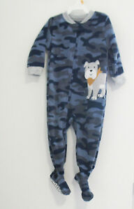 69666495ab96 Details about Carter s Baby Boys Camoflauge Dog Fleece Sleep   Play  Coverall Sz 12M - NWT