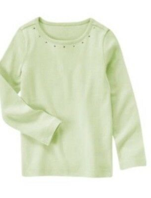 NWT Gymboree Girls Fairy Wishes Light Blue Gem Crew Neck Top Size 3 5 /& 6
