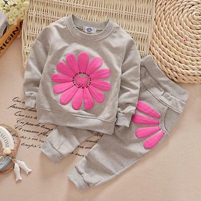 Baby Girls Infant Winter Clothes Tshirt And Pants 2pcs Outfit Suit Clothing Sets