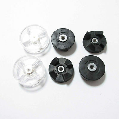 Replacement 2 Plastic Gear Base 4 Rubber Gear For Magic Bullet Spare Parts 250W