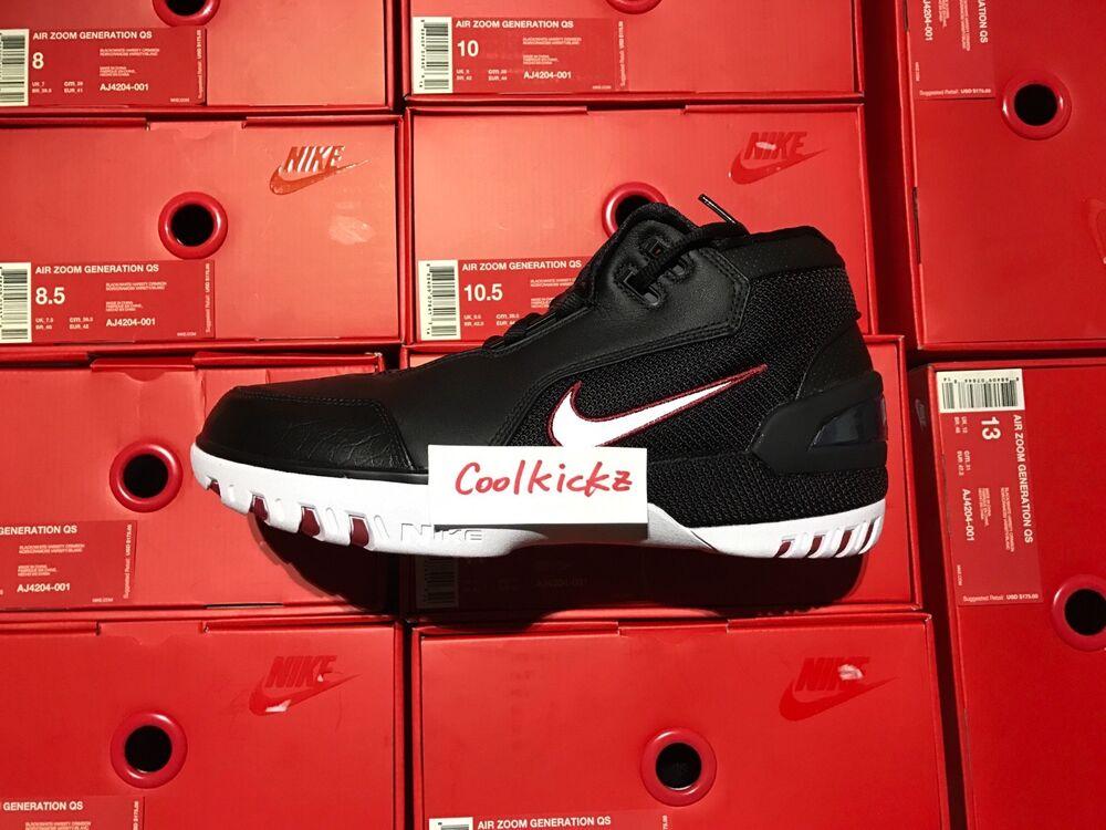 SHIP NOW Nike Air Zoom Generation King Rook 8-13 Noir blanc Crimson AJ4204-001 Chaussures de sport pour hommes et femmes