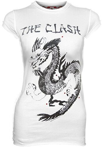 Vintage Seltenes Strass verstärktes Star offizielles The Clash Rock Dragon m T Shirt G q8BUqf