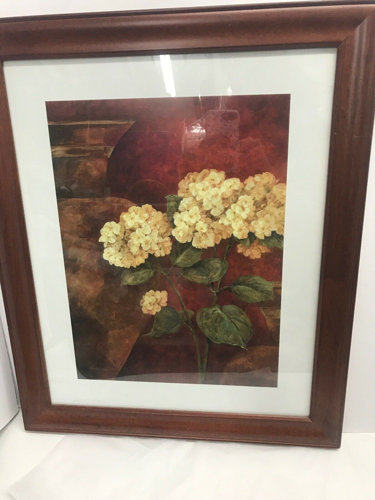 "Pamela Gladding Hydrangea Art Print Matted Signed Framed 23.75""x 19.75"" on eBay thumbnail"