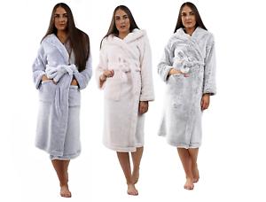Femmes X Boutique Moelleux A Capuche Robe De Chambre Femme Polaire Douce Tissu Eponge Peignoir Ebay