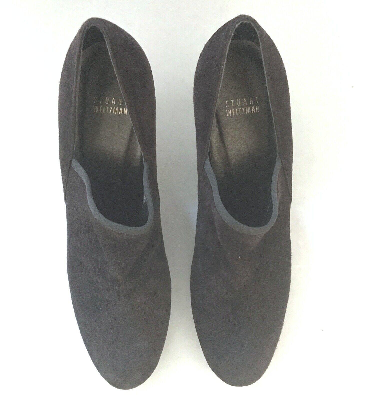STUART WEITZMAN 11M Cola BROWN BROWN BROWN Suede Homestretch Heels Booties shoes  345 NIB 11 ee53cf