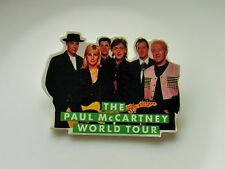 PAUL McCARTNEY WORLD TOUR 1989/90 SHAPED PIN BADGE BEATLES RETRO VINTAGE