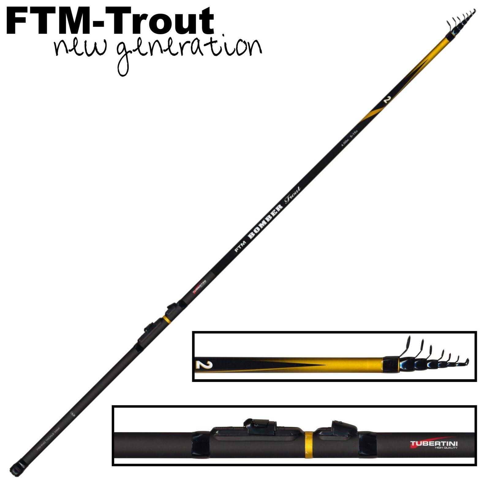 FTM Bomber Trout 2 4m 5-15g - Forellenrute Angelrute für Tremarella