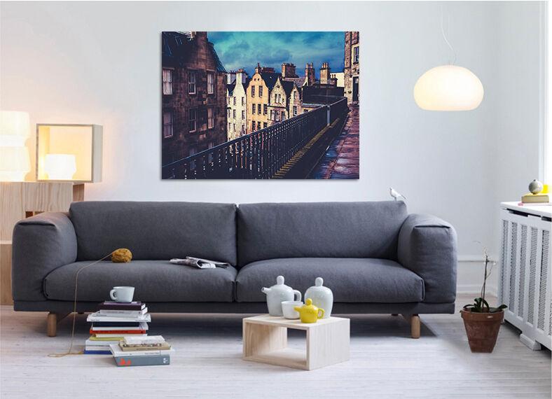 3D Häuser korridor 458 Fototapeten Wandbild BildTapete AJSTORE DE Lemon